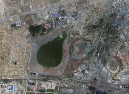 Gifmeer bij Baotou 8 x 15 km groot